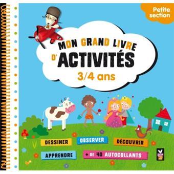 Mon cahier d 39 activit s maternelle petite section 3 4 ans - Livre maternelle gratuit ...