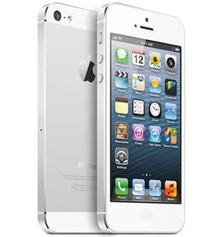 apple iphone 5 16 go blanc argent smartphone. Black Bedroom Furniture Sets. Home Design Ideas