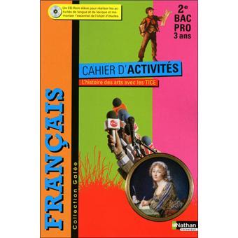 Francais Cahier D Activites 2e Bac Pro L Histoire Des Arts Avec Les Tice Galee Livre De L Eleve