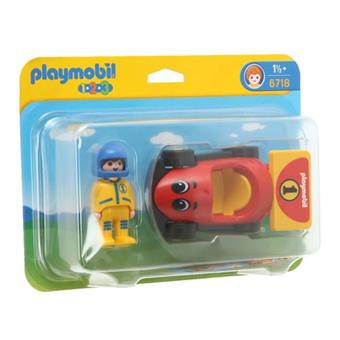 playmobil 6718 pilote voiture de course playmobil. Black Bedroom Furniture Sets. Home Design Ideas