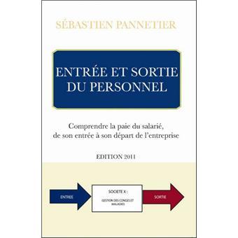 Entree Et Sortie Du Personnel Broche Sebastien Pannetier Achat