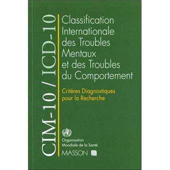 CIM-10/ICD-10 Critères diagnostiques pour la recherche
