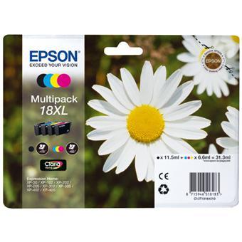 Cartouches d'encre Epson Série Pâquerette 18 XL - Multipack 4 cartouches