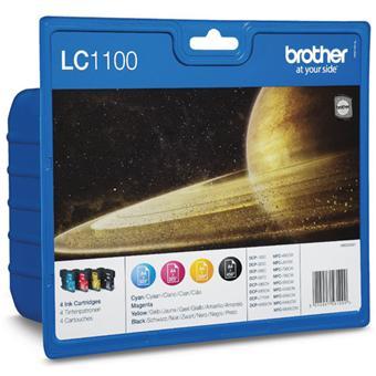 Brother LC1100 Value Pack - pack de 4 - noir, jaune, cyan, magenta - original - cartouche d'encre