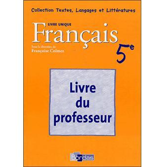 Francais 5e Livre Unique Gp