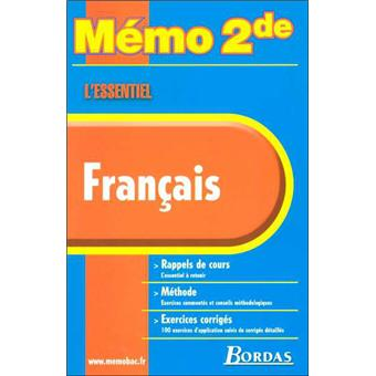 Memo 2nde L Essentiel Memo Essentiel Francais 2de