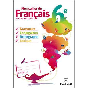 Mon Cahier De Francais 6eme