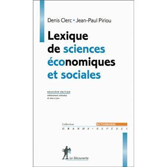 lexique de sciences conomiques et sociales 9me - Resume Science 9eme Annee