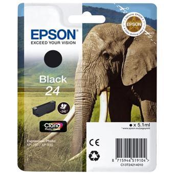 Cartouche d'encre Epson Série Eléphant 24 - Noire