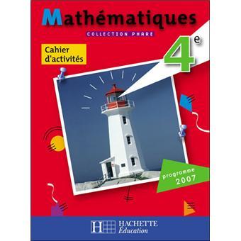 mathematique collection phare 4eme reponse exercice