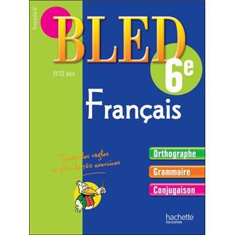 Cahier Bled Francais 6eme