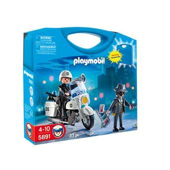 playmobil city action 5891 valisette policier et voleur - Policier Playmobil