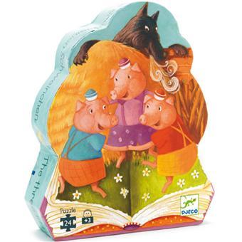 Djeco Puzzle Les 3 Petits Cochons 24 pcs