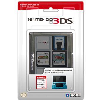 Hori Boîte de rangement noire pour 24 jeux Nintendo DS, DSi ou 3DS