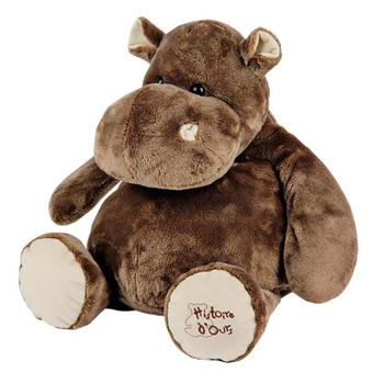 19 62 sur histoire d 39 ours peluche hippo 60 cm animal en peluche achat prix fnac. Black Bedroom Furniture Sets. Home Design Ideas
