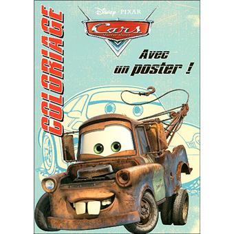 Coloriage Cars Avec Poster Broche Walt Disney Compagny Pixar Collectif Achat Livre Fnac
