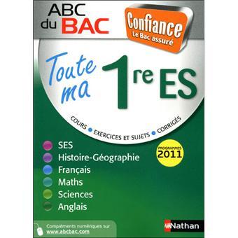 ABC Confiance BacAbc confience toute ma 1ere es