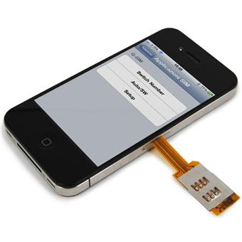 VaVeliero Coque Dual SIM Cover pour iPhone 4 & 4S - Insertion 2ème carte SIM - Etui pour ...