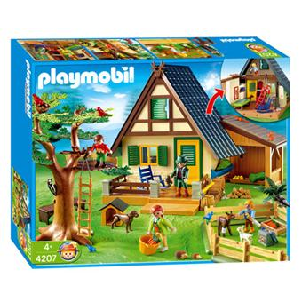 Playmobil 4207 Famille Animaux Maison Forestiere Playmobil Achat Prix Fnac