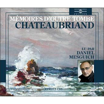 Mémoires d'outre tombe avec 5 CD audio - François-René de Chateaubriand