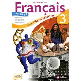 Terre Des Lettres 3e 2012 Manuel Grand Format