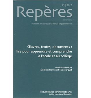Oeuvres Textes Documents Lire Pour Apprendre Et Comprendre A L Ecole Et Au College