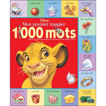 Mon Imagier Disney 1000 Premiers Mots