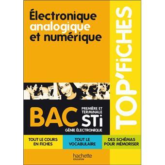 Top Fiches Bac Electronique Analogique Et Numerique 1ere Et Term Sti