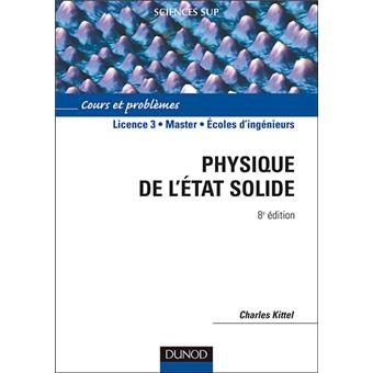 Physique De L Etat Solide 8eme Edition Cours Et Problemes Cours
