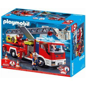 playmobil 4820 camion de pompiers grande chelle - Playmobil Pompier