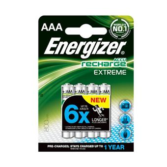 Piles rechargeables Energizer 4 x AAA Extreme - Piles - Achat