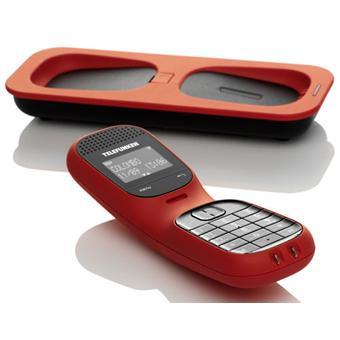 Téléphone fixe TELEFUNKEN TD101 ROUGE