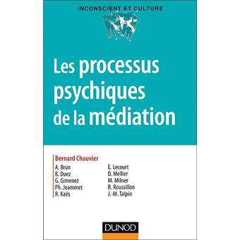 Les processus psychiques de la médiation - Créativité, champ thérapeutique et psychanalyse