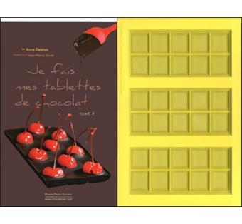 Coffret 100 recettes de tablettes de chocolat. Avec un moule à tablette de chocolat - Anne Deblois