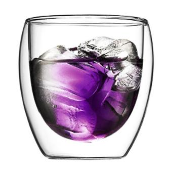 BODUM PAVINA 6 PCS GLASS DOUBLE WALL 0.25L TRANSPARENT
