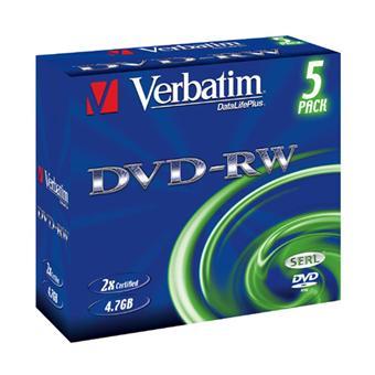Verbatim DVD-RW 4,7 Go x 5