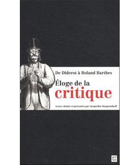 Eloge de la critique