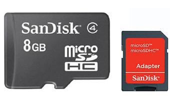 carte micro sd 8 go SanDisk Carte mémoire microSDHC 8 Go + Adaptateur SD   Carte