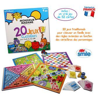 Monsieur De Madame Plateau 20 Jeux Jeu Classiques 8OPwkn0