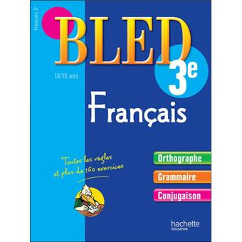 Cahier Bled Francais 3eme