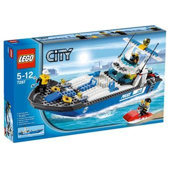 lego city 7287 le bateau de police - Lego City Bateau