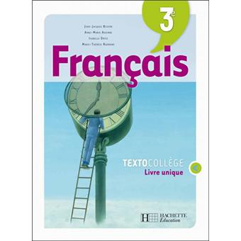 Textocollege 3e Francais Livre De L Eleve