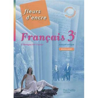 Fleurs D Encre Francais 3e Livre Eleve Format Compact