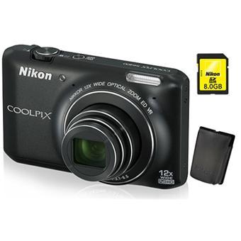 meilleure qualité france pas cher vente profiter de prix bas Pack Fnac : Nikon CoolPix S6400 Noir + Etui + Carte SDHC 8 ...