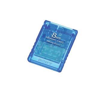 Carte Bleue Transparente.Sony Carte Memoire Bleue Transparente Pour Playstation 2