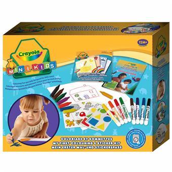 Crayola Mon 1er Coffret De Coloriage Et De Gommettes Kit Loisir