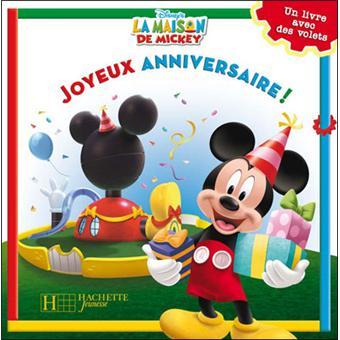 Joyeux Anniversaire Livre Flaps Broche Walt Disney Achat Livre
