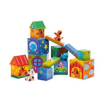 Djeco - Cubanimo - 14 cubes + 3 animaux