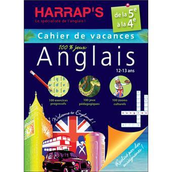 Harrap's cahier de vacances Anglais 5ème/4ème