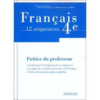 Francais Textes 4e Professeur